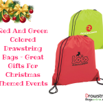 Red And Green Colored Drawstring Bags – Great Gifts For Christmas Themed Events
