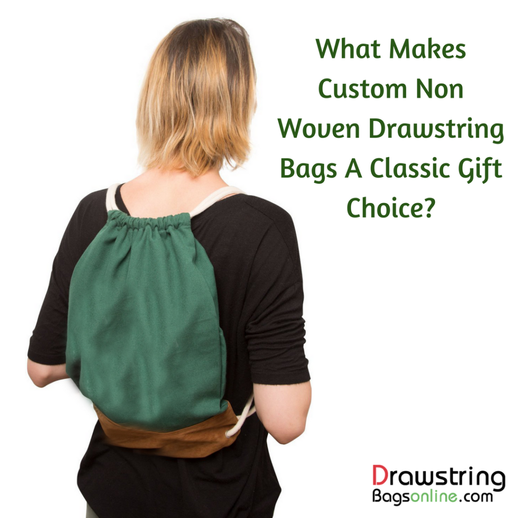 What Makes Custom Non Woven Drawstring Bags A Classic Gift Choice_