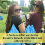 A Few Reasons That Make Custom Drawstring Backpacks Excellent Hand Outs All Round The Year