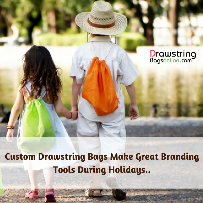 Custom Drawstring Bags Make Great Branding Tools During Holidays..