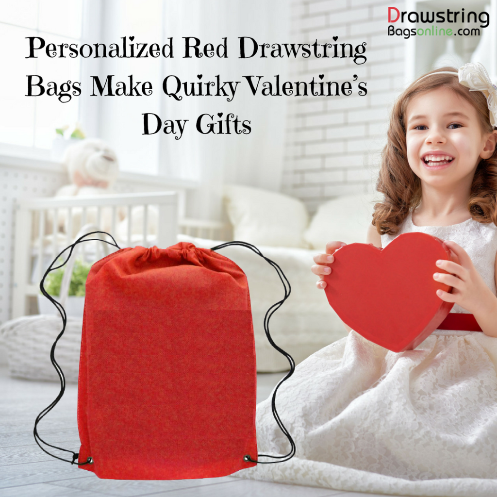Personalized Red Drawstring Bags Make Quirky Valentine's Day Gifts